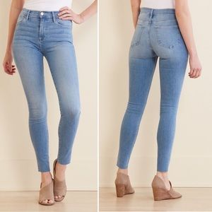 FRAME DENIM Le High Skinny Jeans Raw Hem Size 26